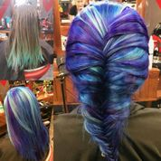 purple and blue braid