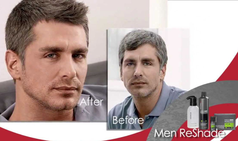 before after mens colour
