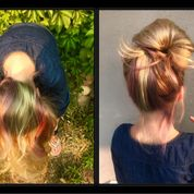 rainbow hair streaks